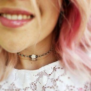 Jewelry - Pearl Flower Aquamarine Choker